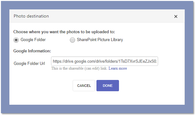 How to upload Repeating Photos to a Google Folder – Formotus Support